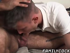 Blowjob,Bareback,gay,twink,doggy style,hardcore,missionary,beard,step dad,step son,FamilyCock Stepson likes it...