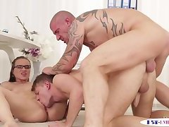Anal,Bisexual,Fetish,Threesome,Blowjob,gay Office twink...