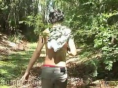 Latinos,Twinks,Blowjob,sucking,outdoor,gay Horny lad gets...