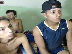 webcam,Twinks,group sex,gay Group of cute...