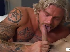 Hunks,Tattoo,Twinks,Blowjob,gay,blonde, Gay Muscle Brunette gay anal...