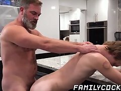 Masturbation,Big Cock,Blowjob,Bareback,daddy,gay,twink,creampie,hardcore,hunk,glasses,FamilyCock Twink has crush...