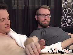 Cumshot,Masturbation,Big Cock,Fetish,Handjob,twink,big dick,stud,big balls,glasses,SwingBalls,testicles,scrotum,ball sack,gay Two buddies with...