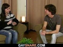 Twink (Gay);Big Cock (Gay);Blowjob (Gay);Hunk (Gay);Anal (Gay);Couple (Gay) Girl helps her...