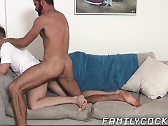 Anal,Cumshot,Tattoo,Blowjob,Bareback,gay,twink,fingering,hardcore,stud,doggystyle, rough sex,bearded,stepdad,stepson,FamilyCock Handsome stepdad...
