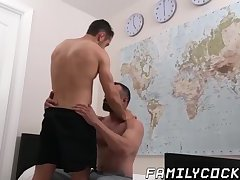 Big Cock,Blowjob,Bareback,gay,twink,hardcore,hairy,missionary,step dad,step son,FamilyCock Big dicked daddy...