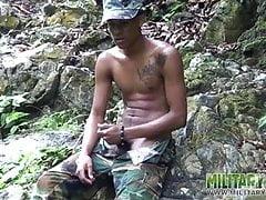 Twink (Gay);Big Cock (Gay);Latino (Gay);Masturbation (Gay);Military (Gay);Outdoor (Gay) Military lad...
